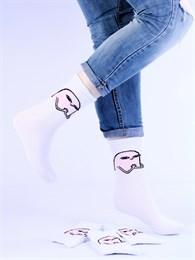Носки с рисунками и с принтом мемы оптом Ketnipz хитрый взгляд Nosi Noski