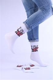 Носки с рисунками и с принтом оптом КАВС на скейтах Череп Nosi Noski