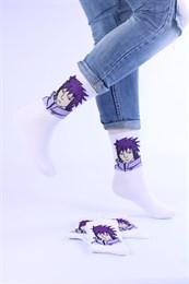Носки с рисунками и с принтом оптом Аниме Персонаж фиолетовый Nosi Noski