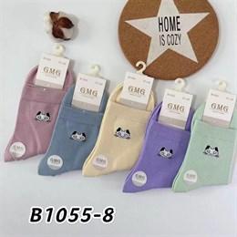 Женские носки GMG средняя длина рисунок котик оптом