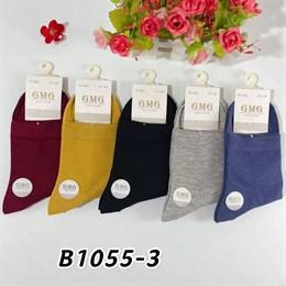 Женские носки GMG средняя длина гладкие яркие оптом 1055-3