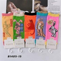 Носки с рисунками GMG высокие мультяшные зайчики 1405-13