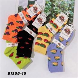 Носки средней длины GMG сочные рисунки фруктов оптом 1306-15