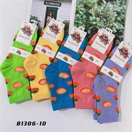 Носки средней длины GMG сочные рисунки фруктов оптом 1306-10