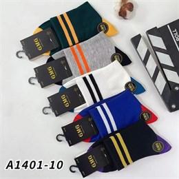 Мужские носки средней длины спорт резнка ассорти надписи 1401-10