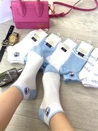 Женские носки короткие цветные с рисунками котик и разные оптом