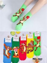 Новогодние носки с рисунками тигров ассорти оптом 1127